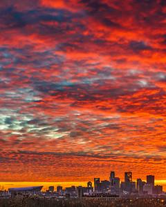 Fire Sky over Minneapolis