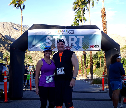 Heroes in Recovery 6K Run, Palm Springs CA January 28, 2018