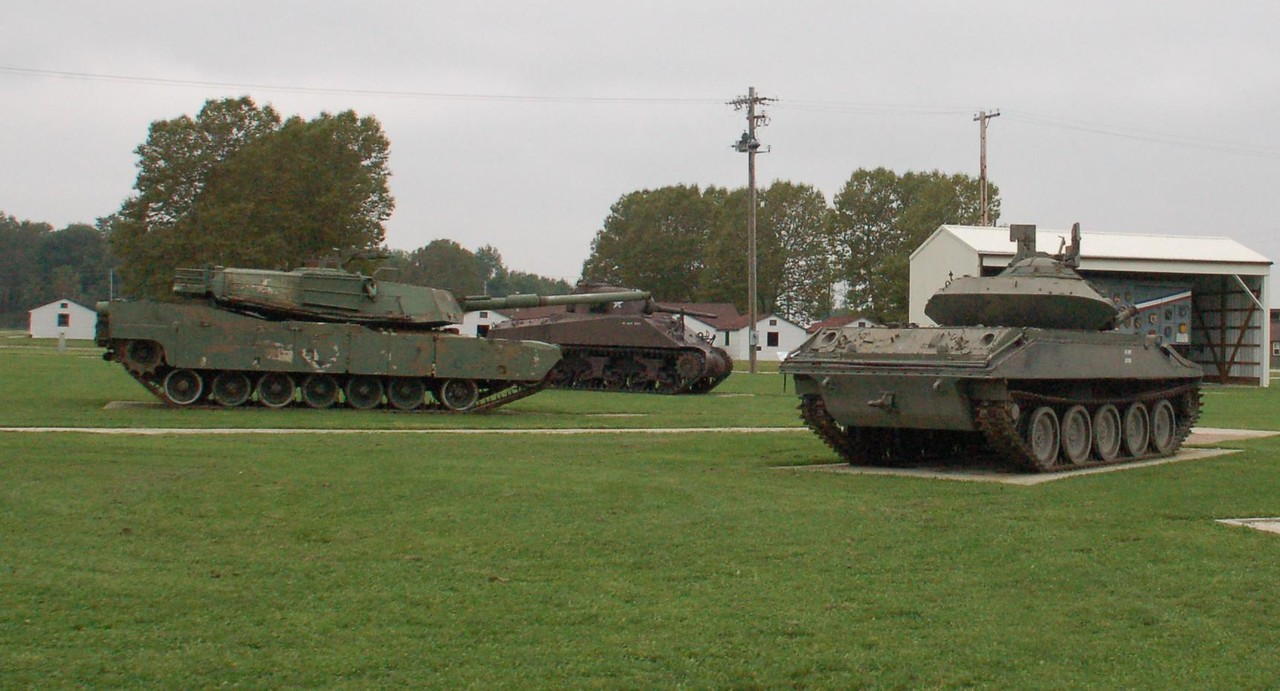 Some of the equipment on static display at Camp Perry, OH
