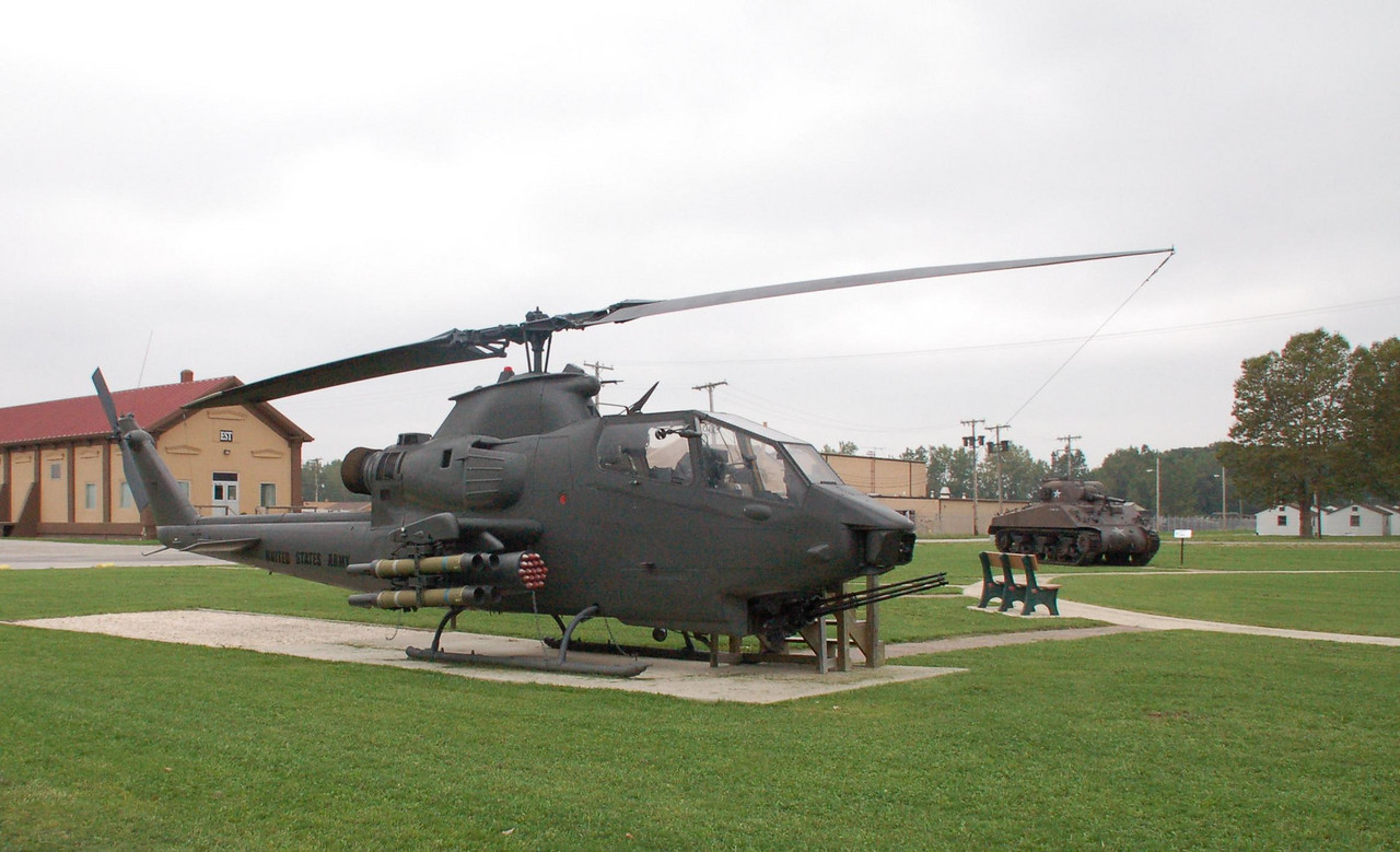 Some of the equipment on static display at Camp Perry (OH)