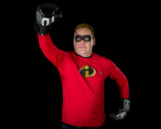 "Ian as ""Mr. Incredible"" from The Incredibles"