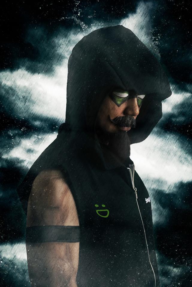 "Samuel Kim as ""The Green Smuggy Arrow"""