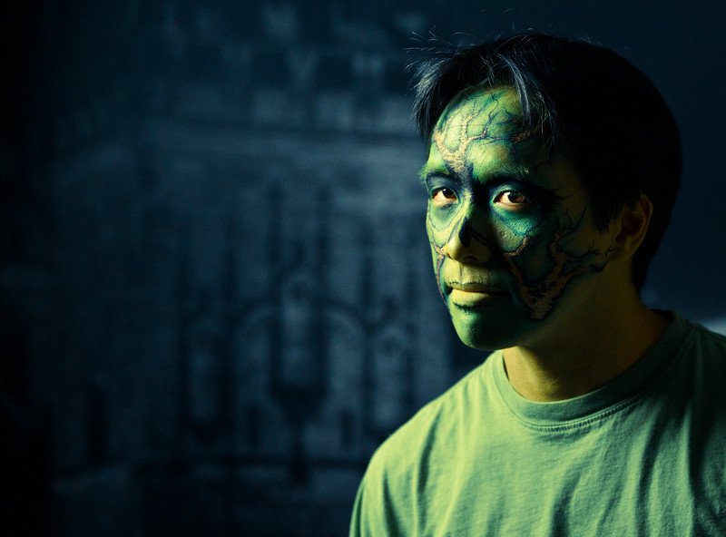 """Andrew Shieh as """"Swamp Thing"""""""