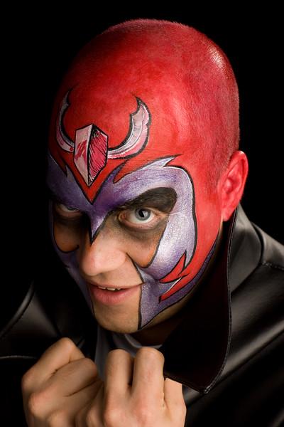 """Samuel Stevens as """"Magneto"""" from X-Men"""