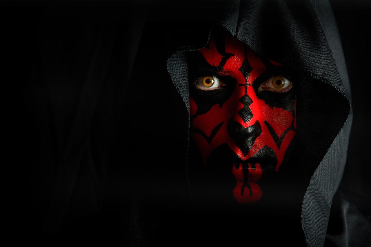"Ivan as ""Darth Maul"" from Star Wars"