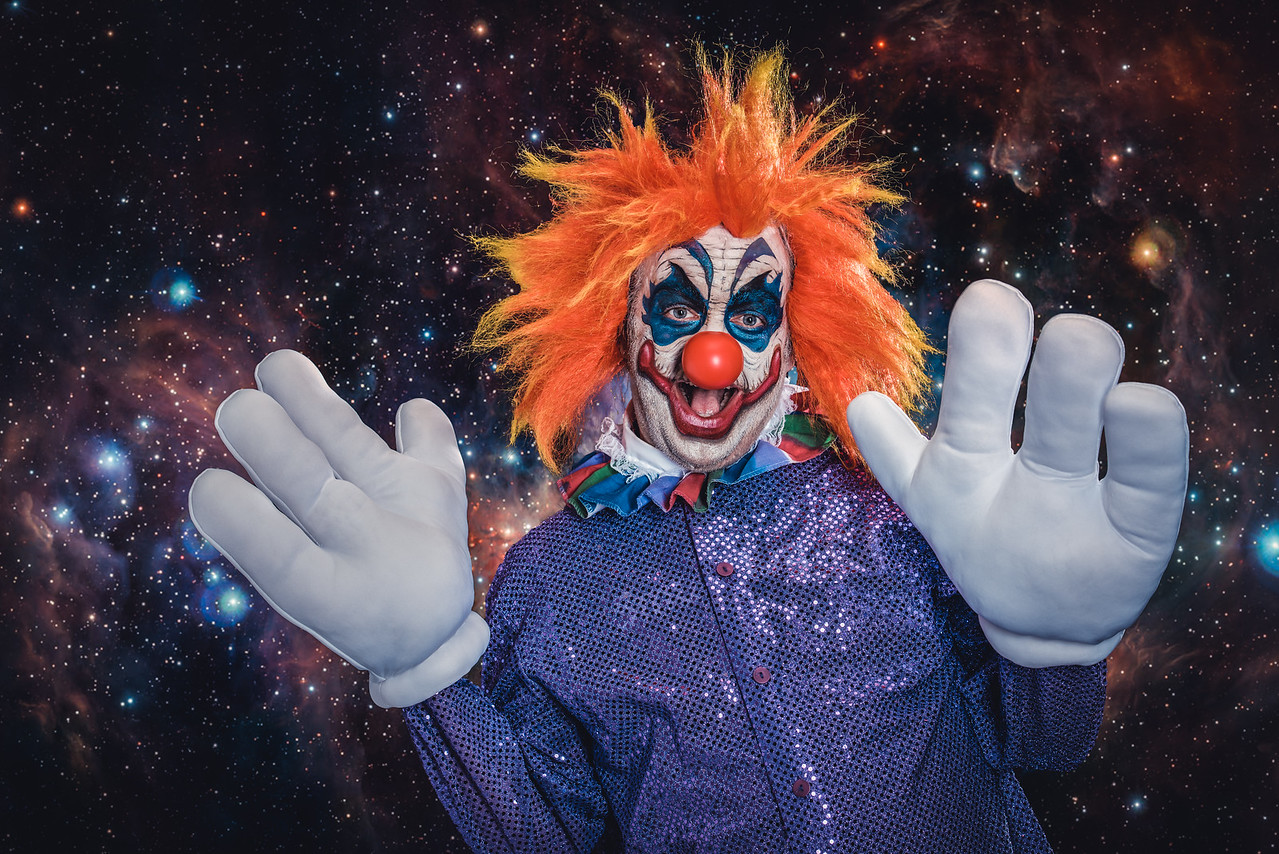 """David Kurtz as """"Rudy"""" from Killer Klowns in Outer Space"""
