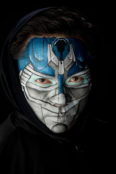"""Tristan as """"Optimus Prime"""" from Transformers"""