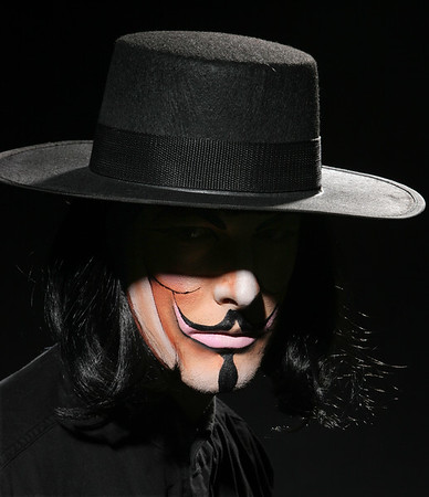 "Ben as ""V"" from V for Vendetta"