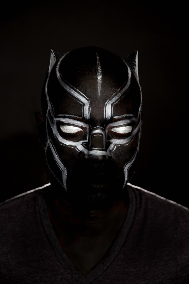 "Nyle as ""The Black Panther"""