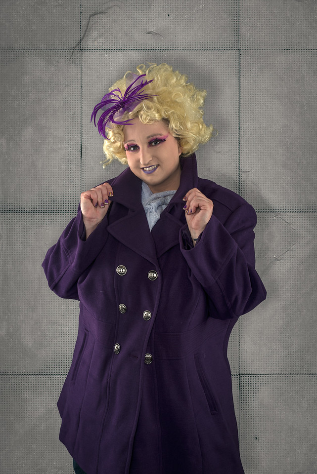 """Kelly Rogerson as """"Effie Trinket"""" from The Hunger Games"""