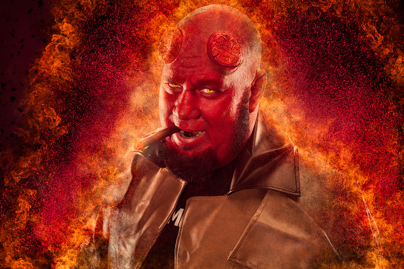 "Scott Kinzie as ""Hellboy"""