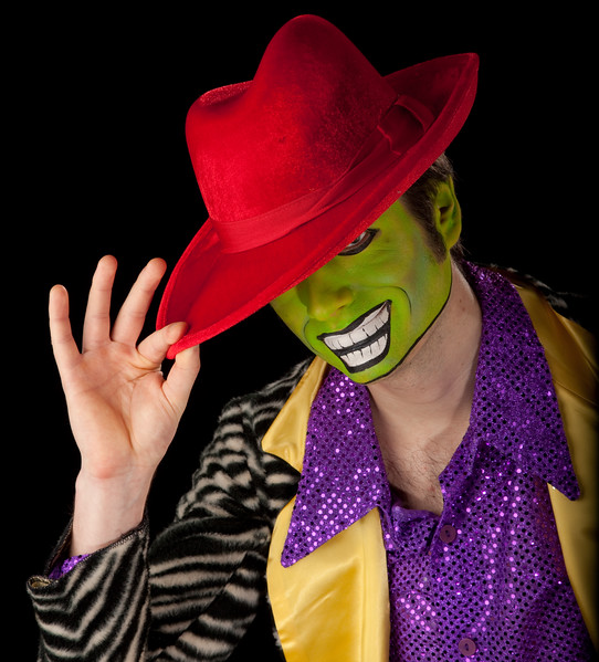 "Sebastian as ""The Mask!"""