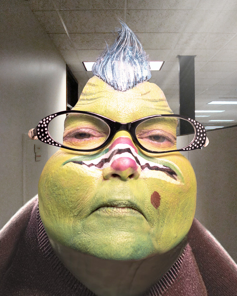 """Janet Bracewell as """"Roz"""" from Monsters, Inc."""