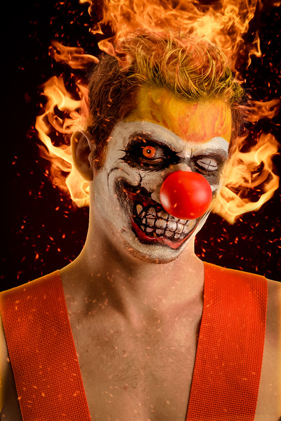 "Chris O'Boyle as ""Sweet Tooth"" from Twisted Metal"