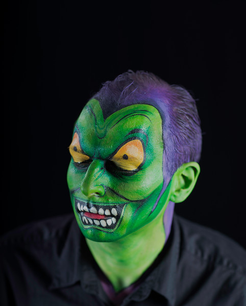 "Brian Wood as ""The Green Goblin"" from Spiderman"