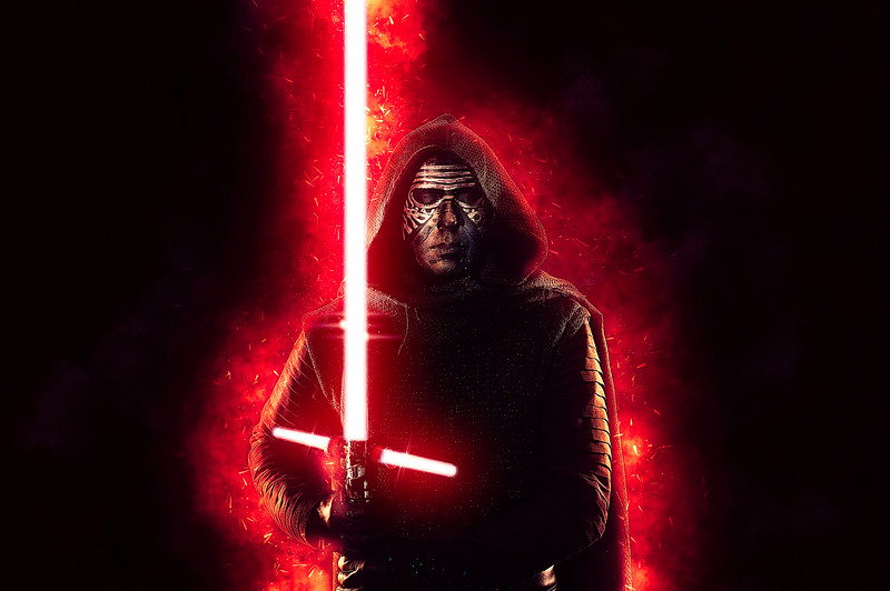 "Gino Zevallos as ""Kylo Ren"" from Star Wars"""