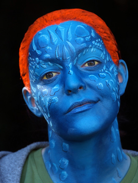 "Wendee as ""Mystique"" from X-Men"