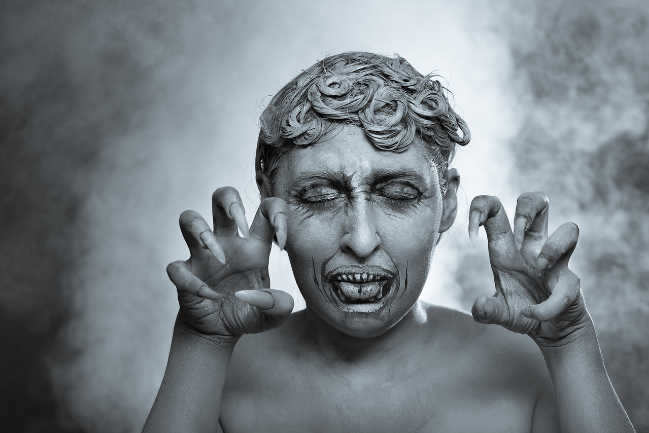 """Gabbie as a """"Weeping Angel"""" from Doctor Who"""