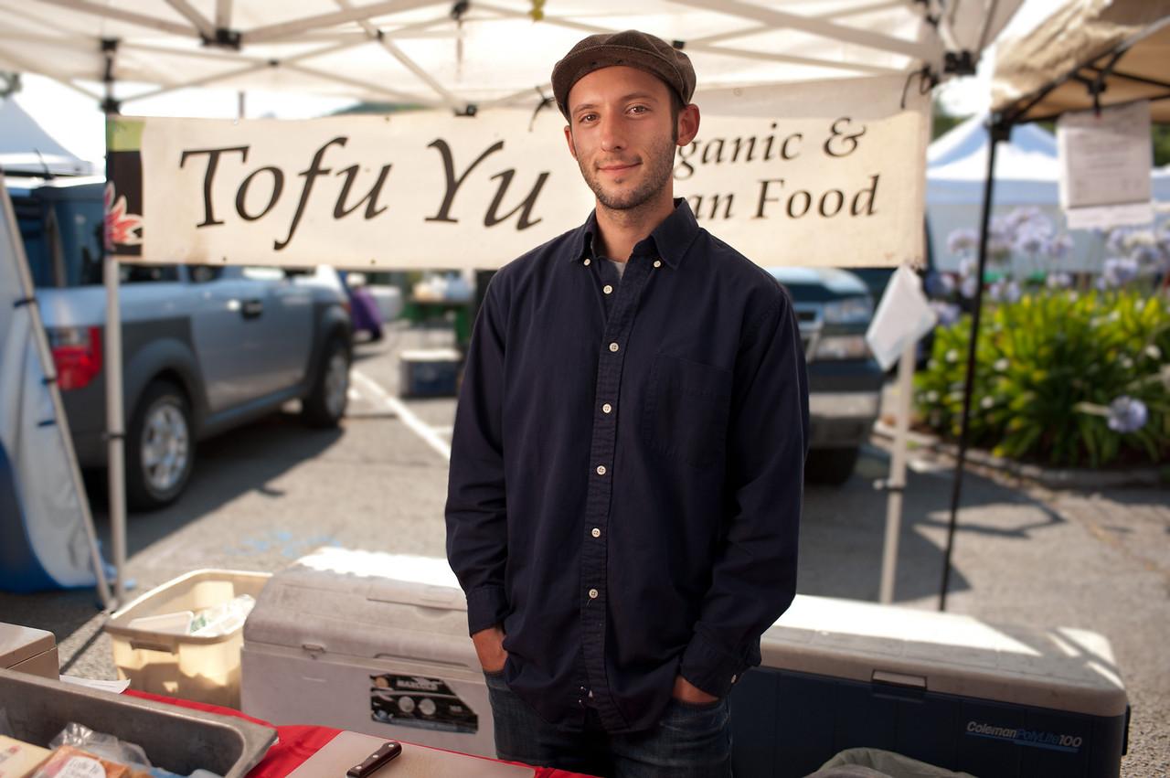 "Daniel Linstrut of Tofu Yu in Berkeley.<br /> <br /> <a href=""http://www.tofuyu.com/"">http://www.tofuyu.com/</a>"