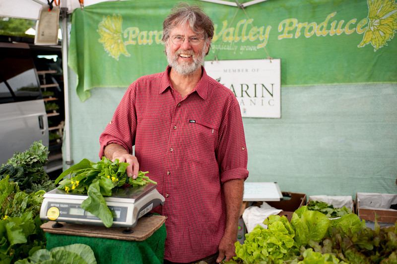 "Dennis Dierks of Paradise Valley Produce in Bolinas.<br /> <br /> <a href=""http://tinyurl.com/paradise-valley-produce"">http://tinyurl.com/paradise-valley-produce</a>"