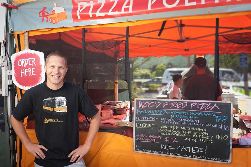 """Joel Baecker of Pizza Politana in Petaluma.<br /> <br /> <a href=""""http://www.pizzapolitana.com/"""">http://www.pizzapolitana.com/</a>"""