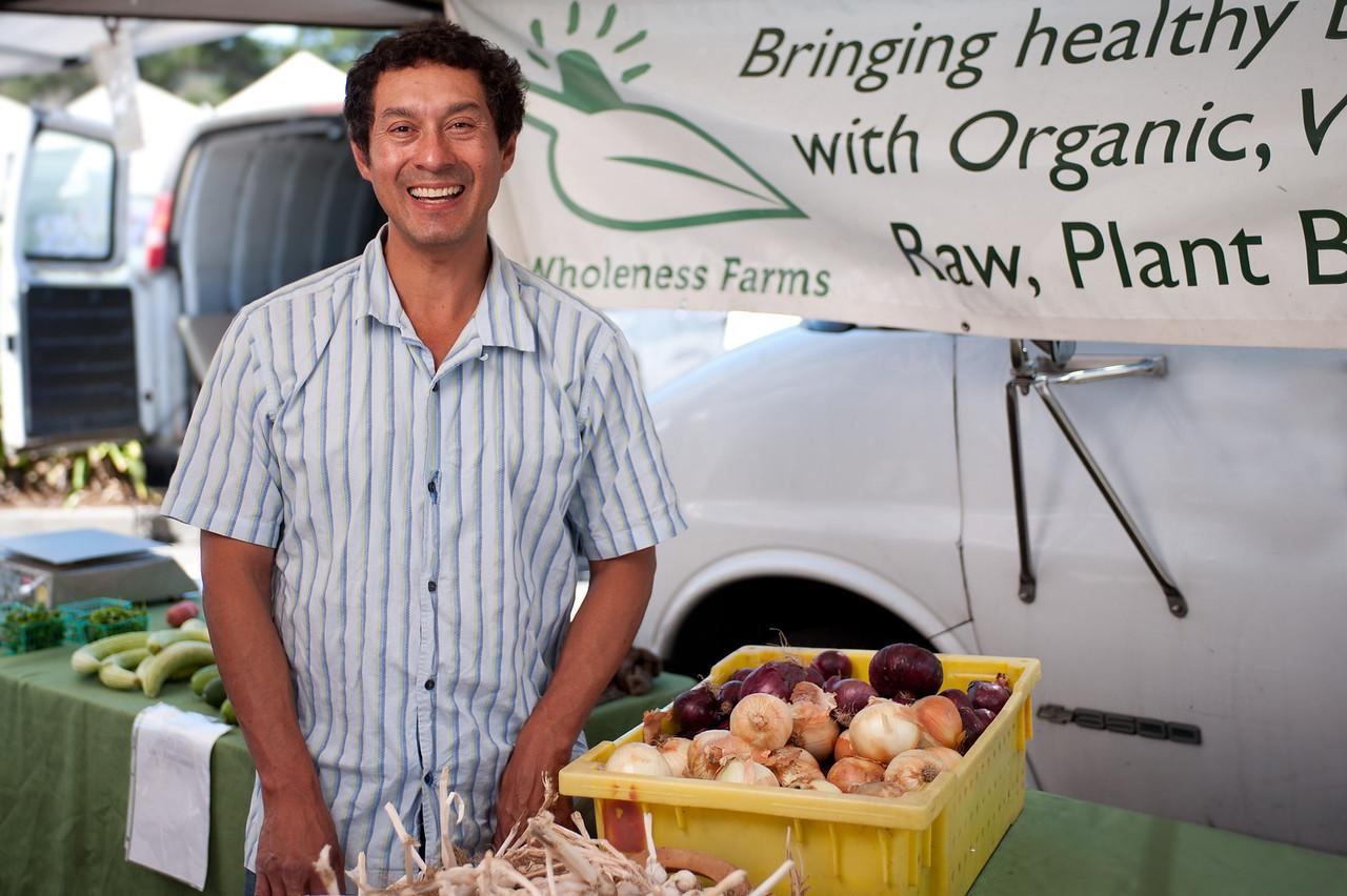 """Luis Miranda of Wholeness Farms in Lodi.<br /> <br /> <br /> <a href=""""http://wholenessfarm.auc.com/"""">http://wholenessfarm.auc.com/</a>"""