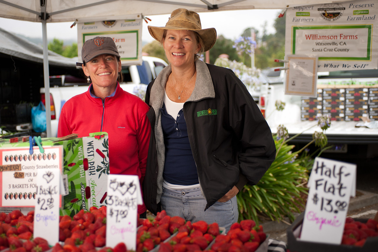 """Margaret Crane and Sheri Williamson of Williamson Farms in Woodland and Watsonville.<br /> <br /> <a href=""""http://tinyurl.com/williamson-farm"""">http://tinyurl.com/williamson-farm</a>"""