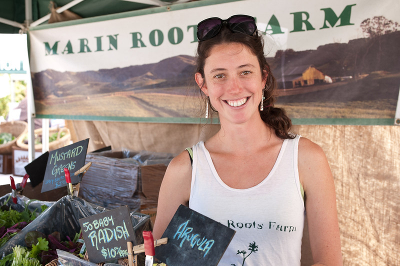 "Jessica Baron of Marin Roots Farm in Petaluma.<br /> <br /> <a href=""http://marinrootsfarm.wordpress.com"">http://marinrootsfarm.wordpress.com</a>"