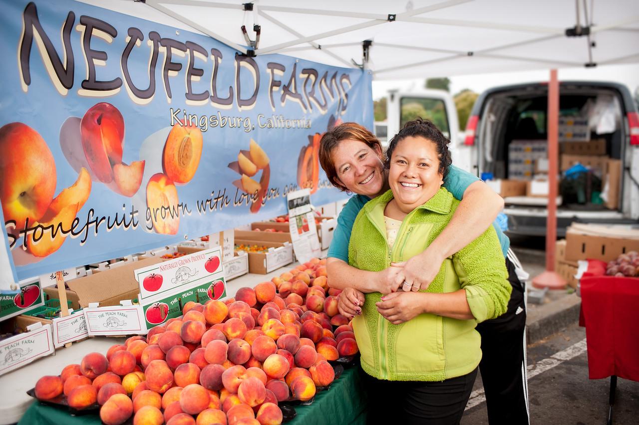 "Margarita Dacheva and Malu Arango from Neufeld Farms in Kingsburg.<br /> <br /> <a href=""http://neufeldfarms.blogspot.com/"">http://neufeldfarms.blogspot.com/</a>"