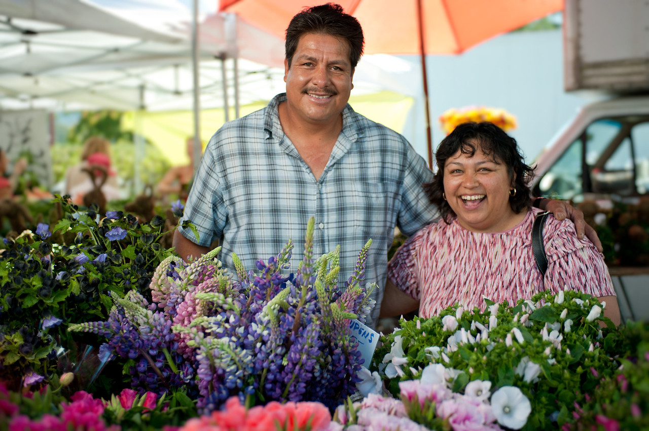 "Enrique Morena and friend from Cypress Flower Farm in Moss Beach.<br /> <br /> <a href=""http://cypressflowerfarm.net"">http://cypressflowerfarm.net</a>"