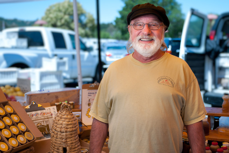"Larry Sigmund of Marshall's Honey in American Canyon.<br /> <br /> <br /> <a href=""http://www.marshallshoney.com"">http://www.marshallshoney.com</a>"