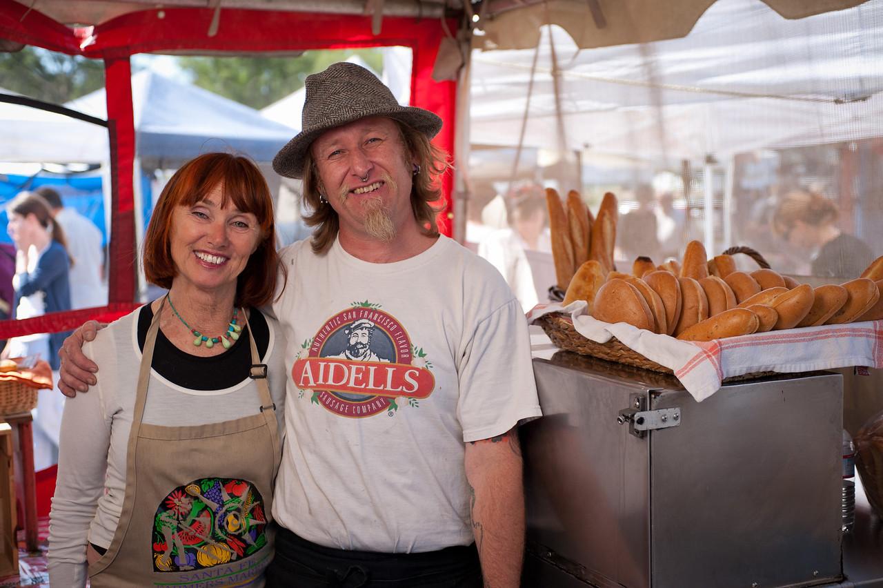 "Kathleen deWilbur and Erik Konig of Aidells Sausage Company in San Leandro.<br /> <br />  <a href=""http://www.aidells.com"">http://www.aidells.com</a>"