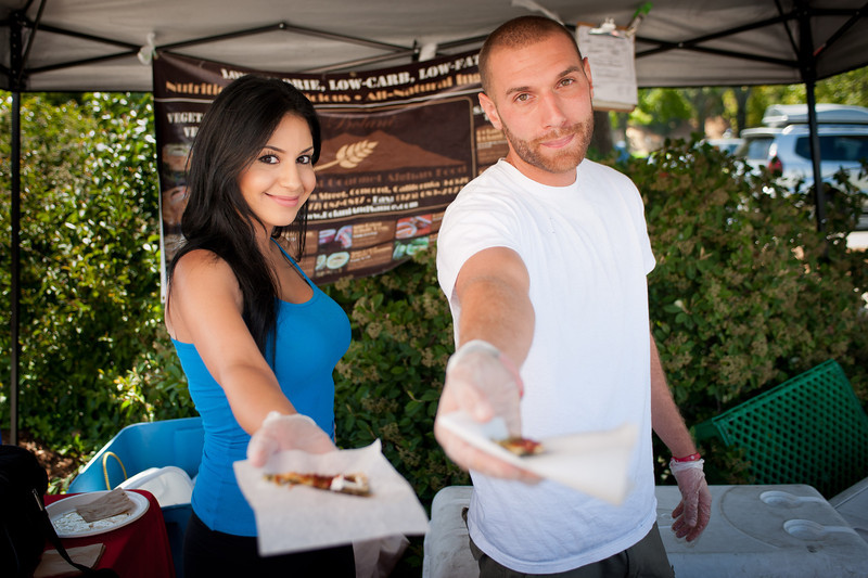 """Brook Alenpajouh and Dwight Peterson of East & West Gourmet in Concord.<br /> <br />  <a href=""""http://www.bolaniandsauce.com"""">http://www.bolaniandsauce.com</a>"""