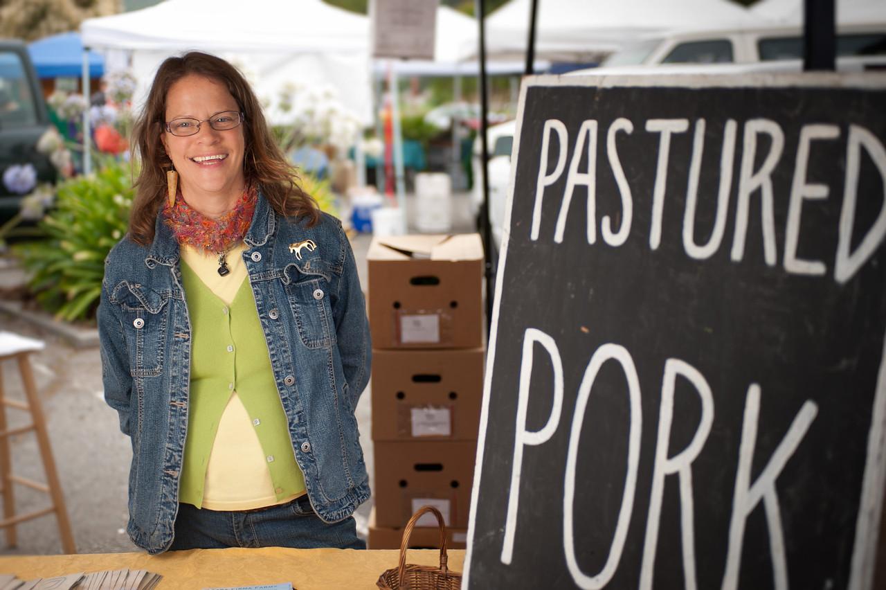 "Regina Weldon from Tara Firma Farms in Petaluma.<br /> <br /> <a href=""http://www.tarafirmafarms.com"">http://www.tarafirmafarms.com</a>"