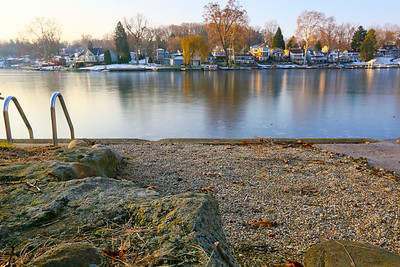 Lake access winter