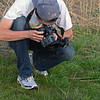 Dan photographing a prairie kingsnake found on the crawl at Rockbridge State Park.