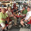 GD<br /> Guillermo, Marty Capron, Dav Kaufman, Mike Pingleton, and Matt Cage <br /> Ari's Burger, Iquitos<br /> 2017