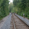 Walking railroad tracks is a good way to find herps.