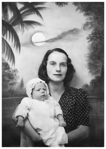 Baby Ada and her mother Mary Cecelia Krauth in late 1928 or early 1929.