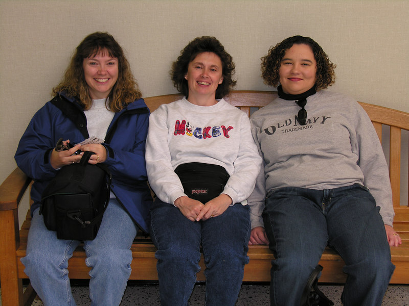 Lisa, Darla and Kristi at the Indianapolis Motor Speedway Museum