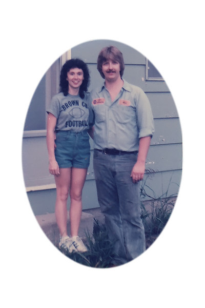 Darla and Paul - the early years - abt 1985 on SR 48 in Bloomington