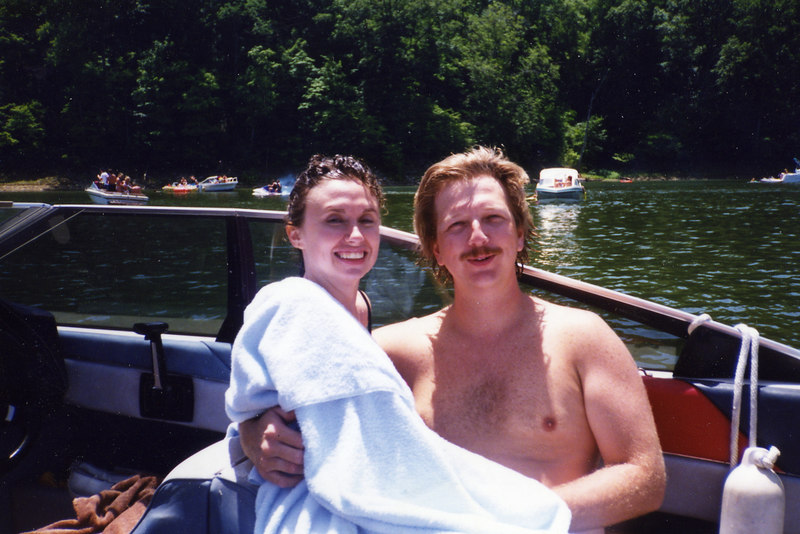 Boating on Lake Monroe during the early 1990's