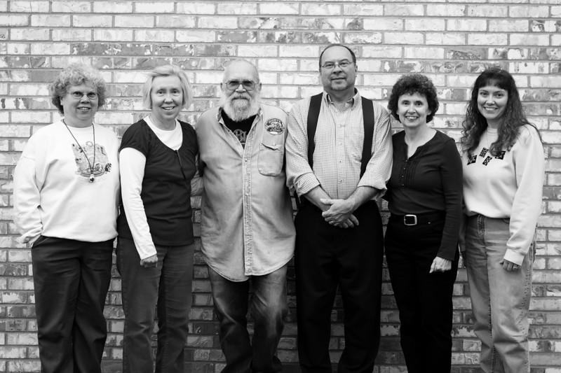 Vicky, Kathy, Herb, Jesse, Darla, Lisa 2012 BW