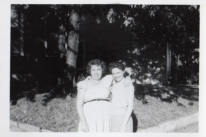 Margaret Elizabeth Fredrick & Fannie Fredrick c 1956