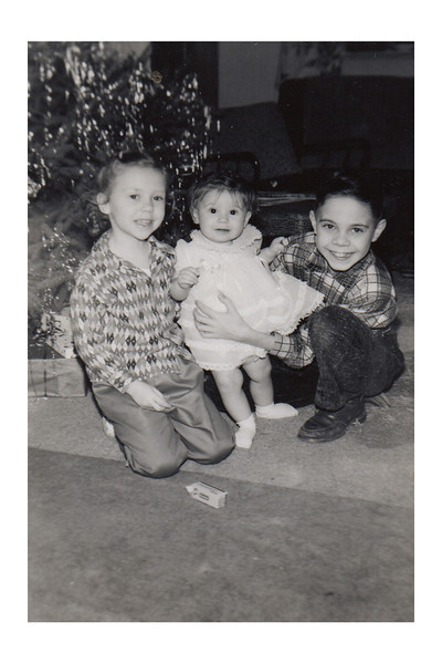 Kathy Vicky Herb Christmas 1957