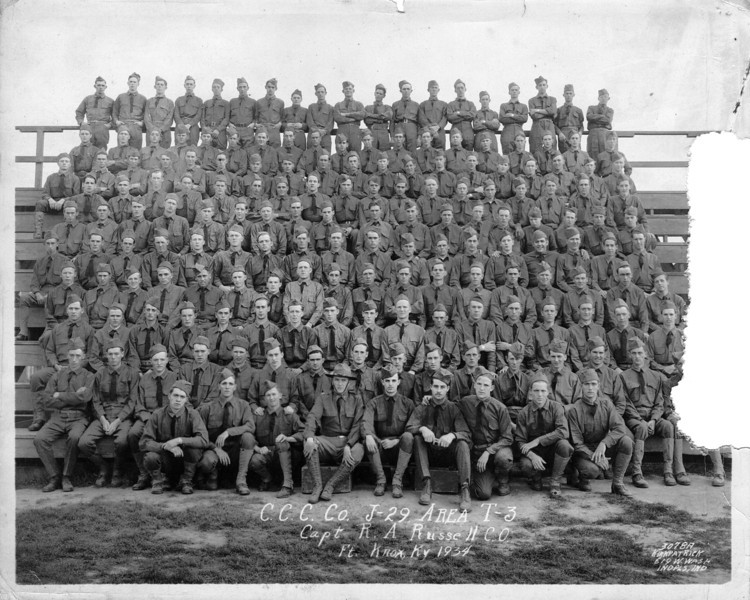 Jesse Millard Myers Civilian Conservation Corps 1934 - third row from top, second from left