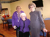 Vannie Buchanan, Bessie Brown (seated), Helena Powell, February 12, 2012. Bessie's 93rd birthday.