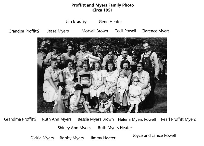 Proffit_Myers family circa 1951
