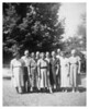 Flossie Turner, Clarence and Pearl Myers, Frank and Maud Denham, Clurie and Vella Murray, Kenneth and Dossie Yokley and Vernie Proffitt - made at the jail house in Tomkinsville KY when Homer was jailer