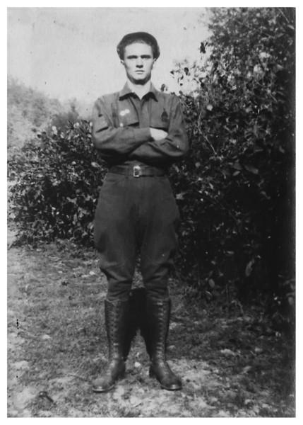 Jesse Millard Myers in Civilian Conservation Corp uniform abt 1934